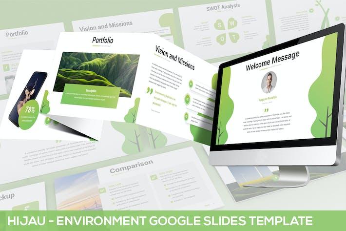 Thumbnail for Hijau - Environment Google Slides Template