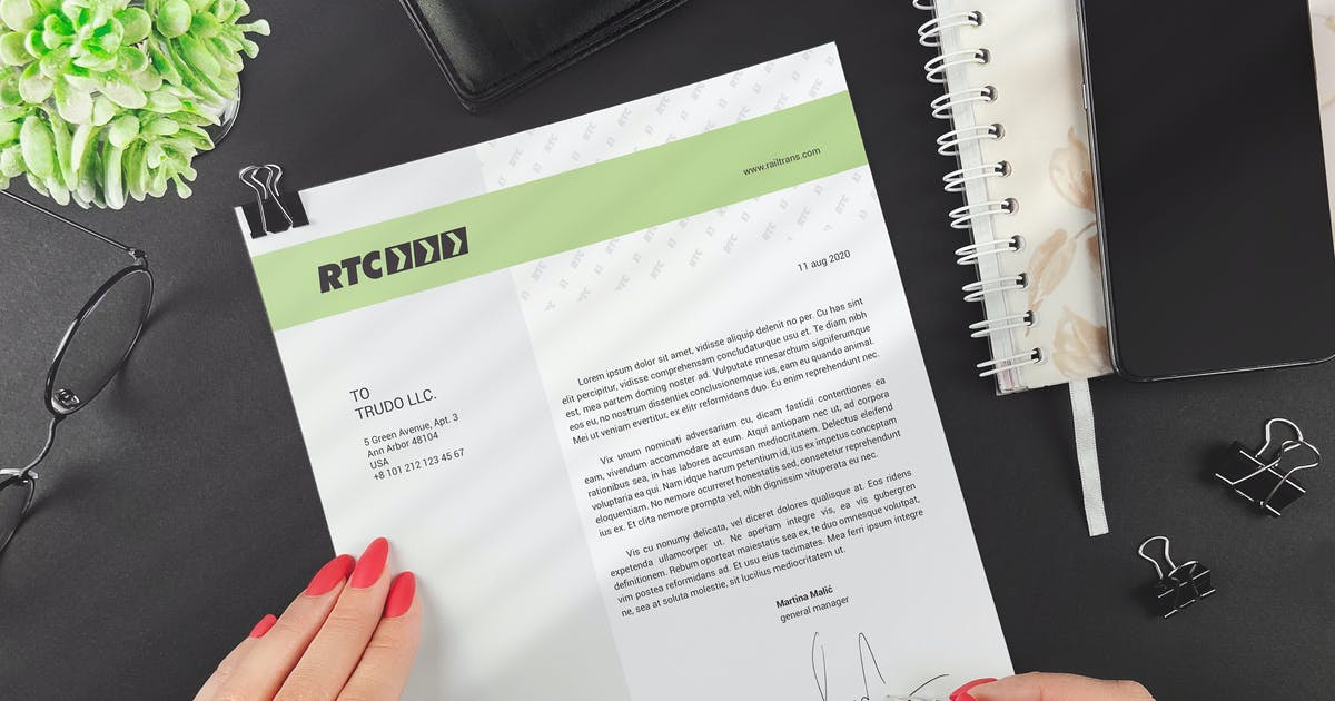 Download A4 Paper / Business Letter Mockup by StreetD