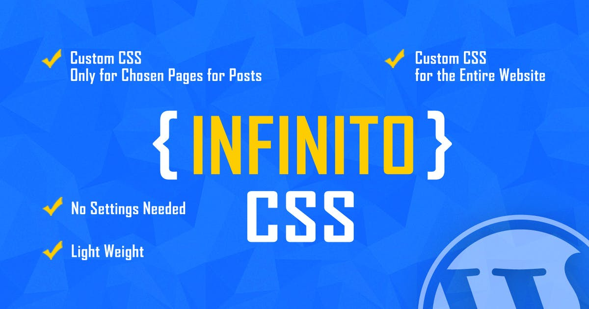 Download INFINITO - Custom CSS for Chosen Pages and Posts by LambertGroup
