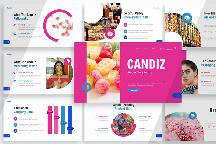 Cover Image For Candiz - Шаблон презентации