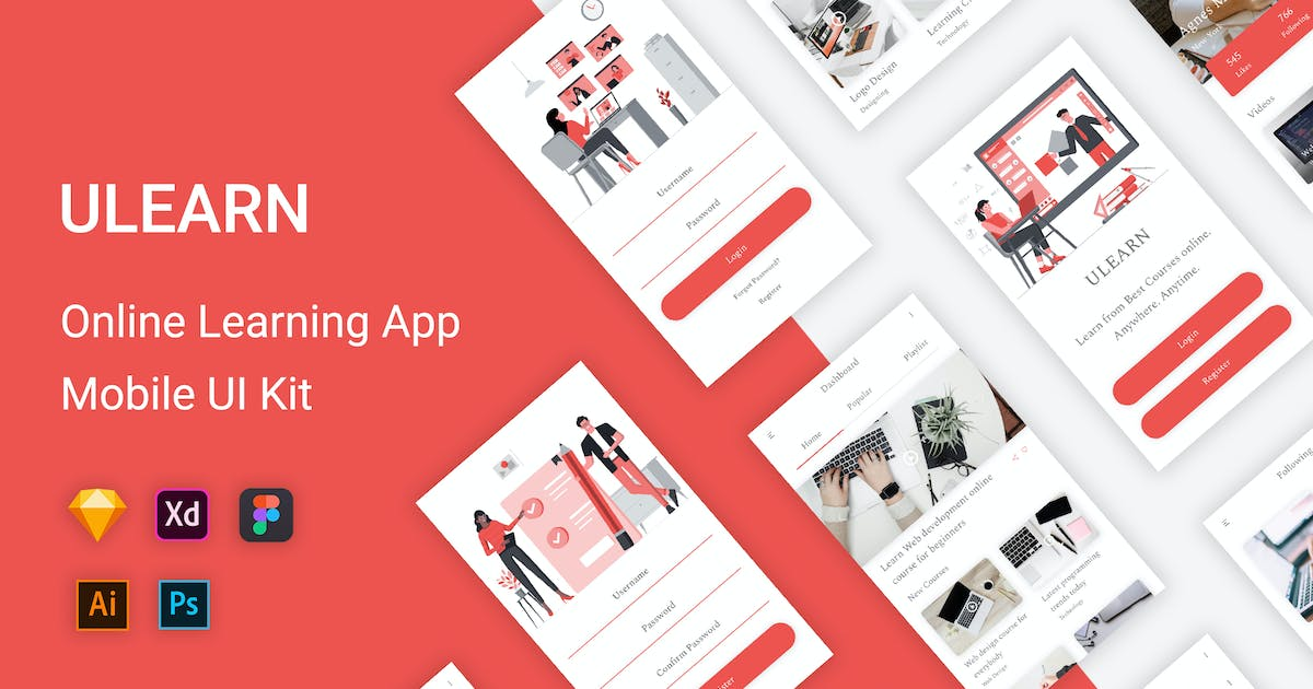 Download ULEARN - Online Learning UI Kit by themepassion