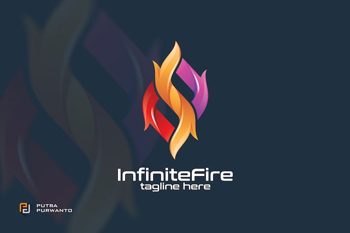 Cover Image For Infinite Fire - Logo Template