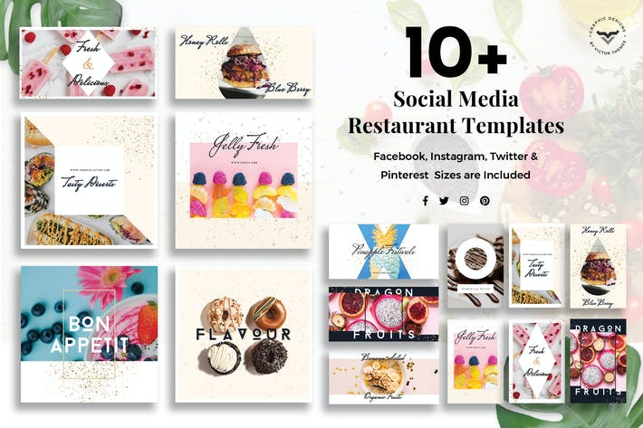Thumbnail for Social Media Restaurant Templates