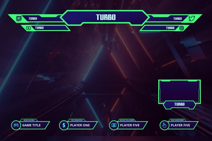 Thumbnail for Turbo - Twitch Overlay Template