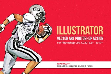 Illustrator - Vector Art Photoshop Action