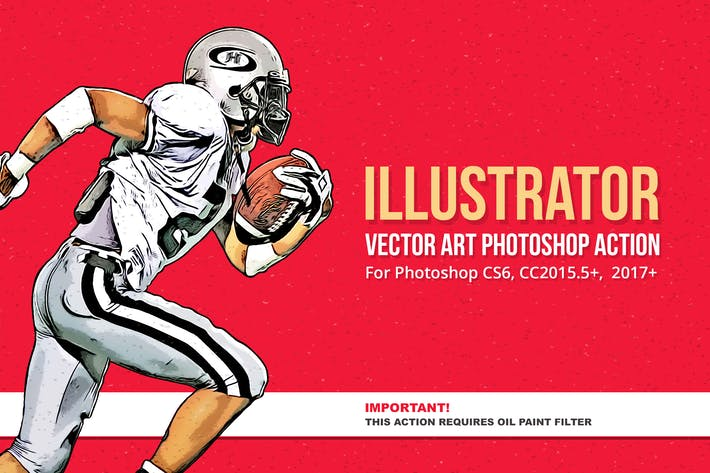 Illustrator - Vector Art Photoshop Action