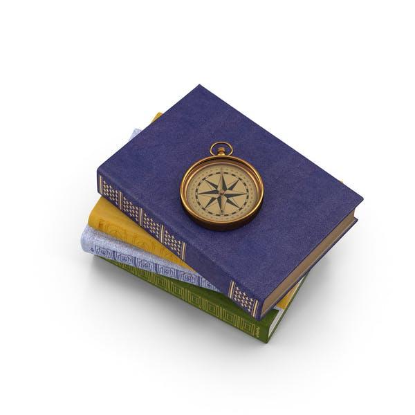 Bücher und Kompass