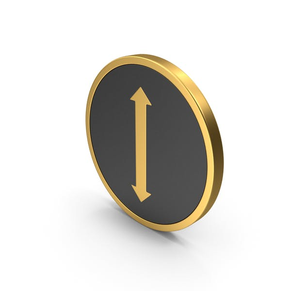 Gold Icon Arrow Up Down