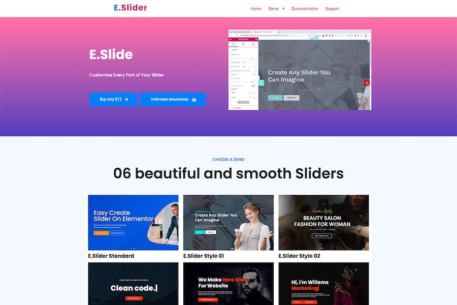 Elementor Slider Addons - Widget