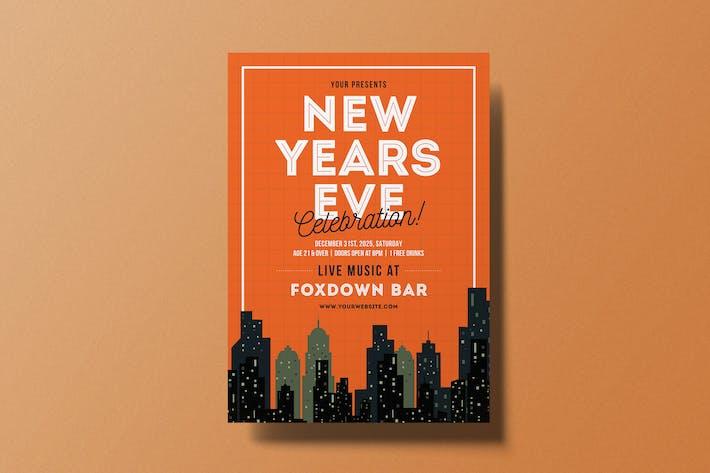 Thumbnail for Neujahrsfeier Flyer