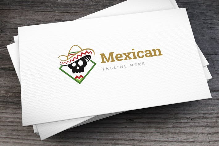 Thumbnail for Mexican Hat Logo Template