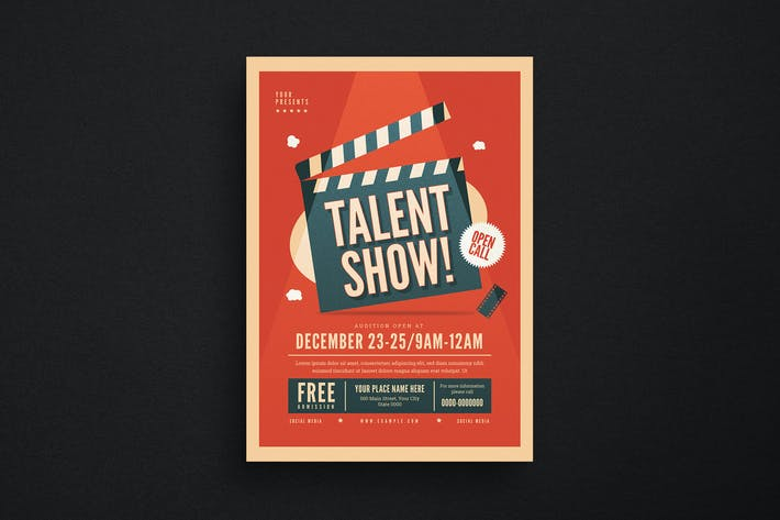 Talent Show Event Flyer