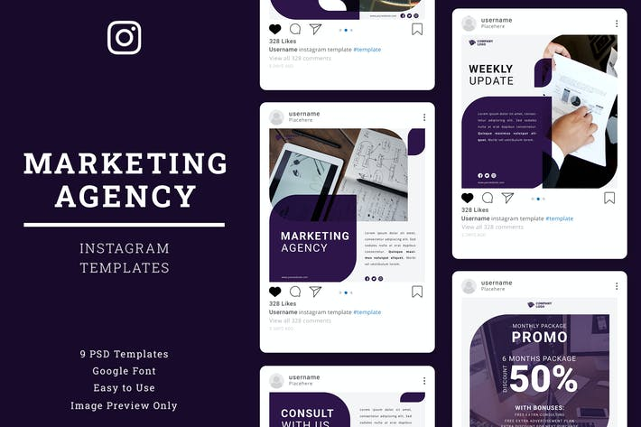 Thumbnail for Marketing Agency Instagram Post Template