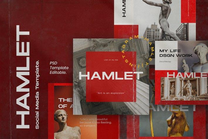 Thumbnail for HAMLET PACK 2 - Instagram Template + Stories