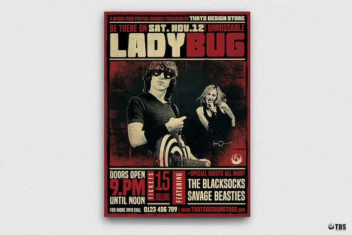 Thumbnail for Rock Concert Flyer Template V1