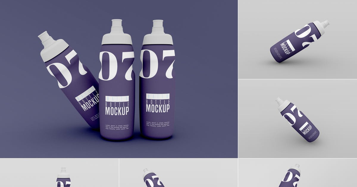 Download Water Bottle Mockup - Vol 01 by xvector-team