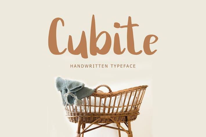 Thumbnail for Cubite - Fuente de pincel escrito a mano
