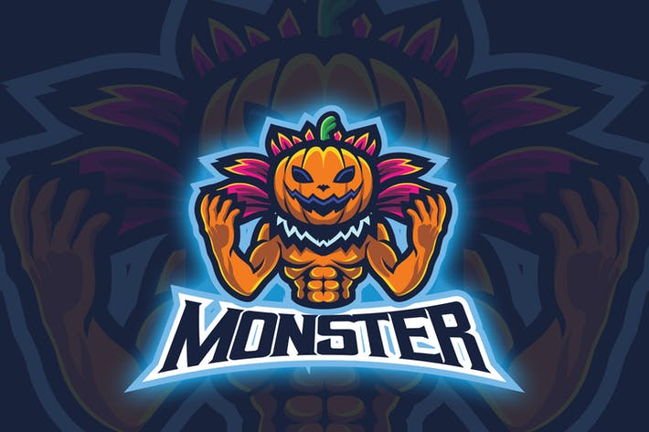 Thumbnail for Pumpkin Monster Esport Logo
