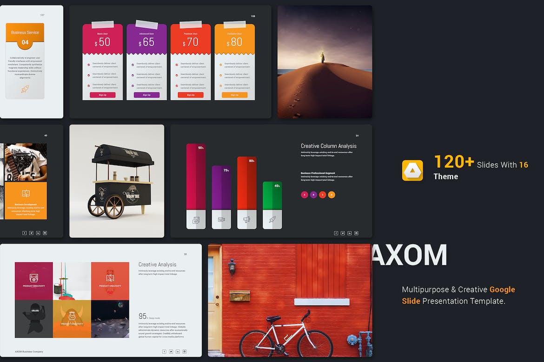 Axom Google Slide Template by SimpleSmart on Envato Elements