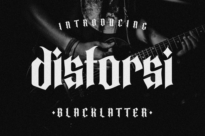 Distorsi Blackletters