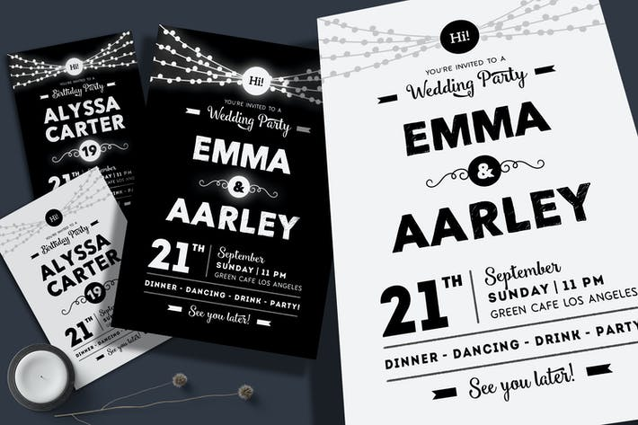 Thumbnail for String Lights Invitation (Wedding & Birthday)