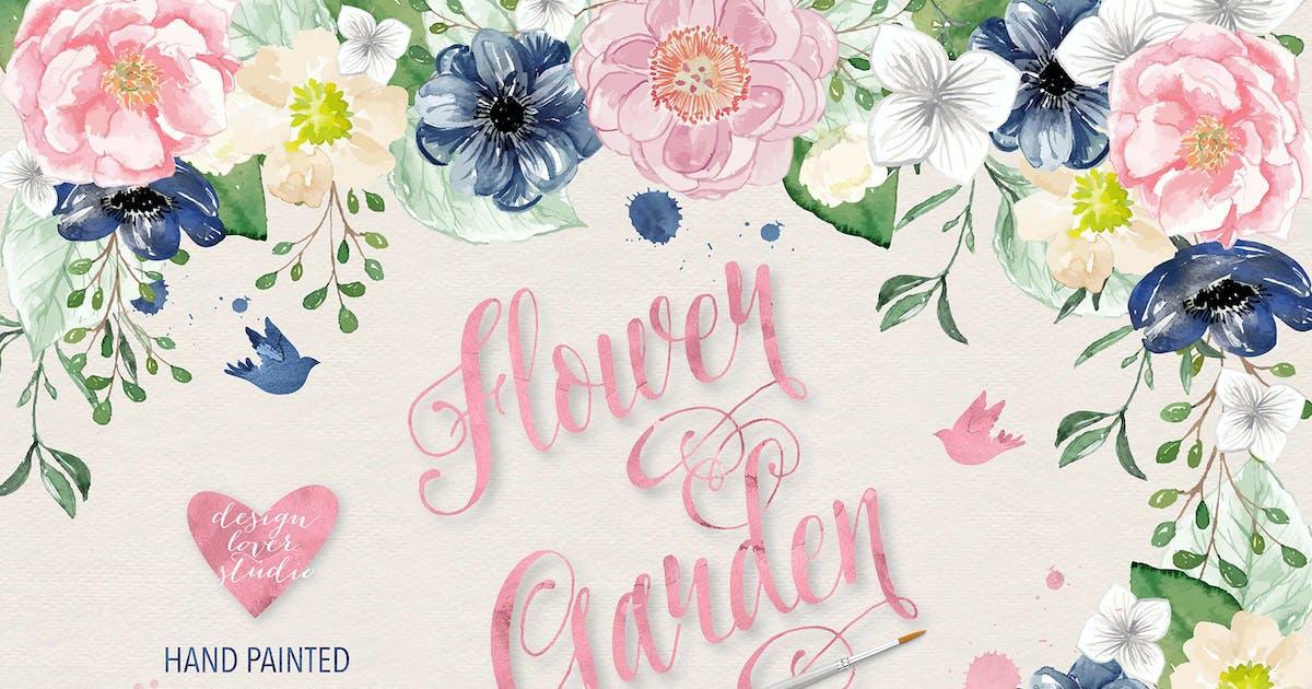 Download Vector watercolor color flowers by designloverstudio