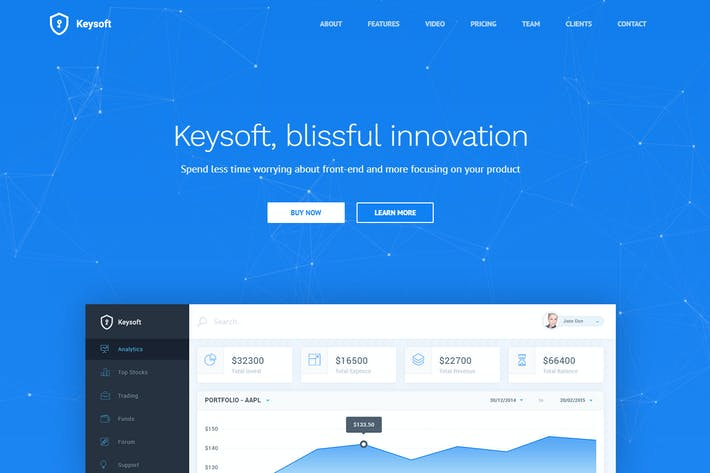 Thumbnail for KeySoft - Software Landing Page
