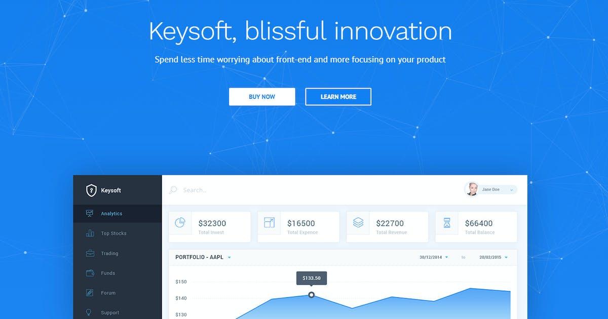 Download KeySoft - Software Landing Page by Key-Design