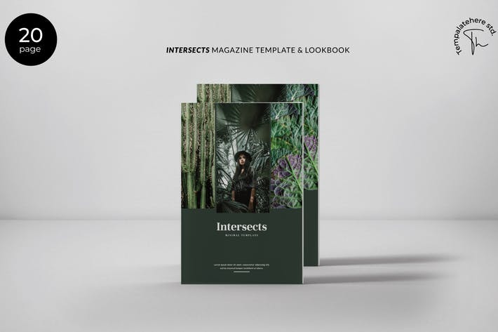 Thumbnail for Intersects - Minimal Magazine Template