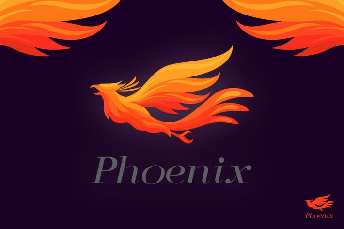 Thumbnail for Dynamic Flying Vivid Phoenix Logo