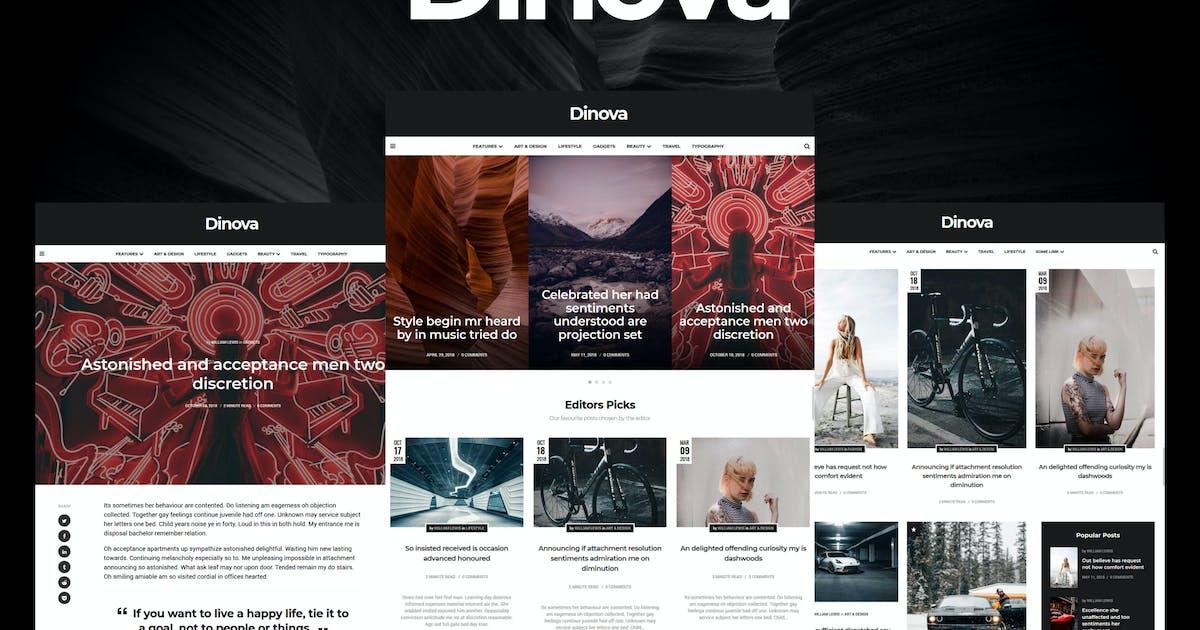 Download Dinova - Alternative Magazine Gutenberg Theme by 3FortyMedia