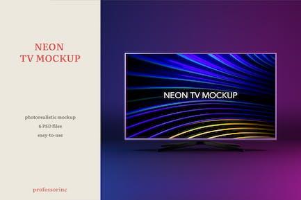 Neon TV Mockup