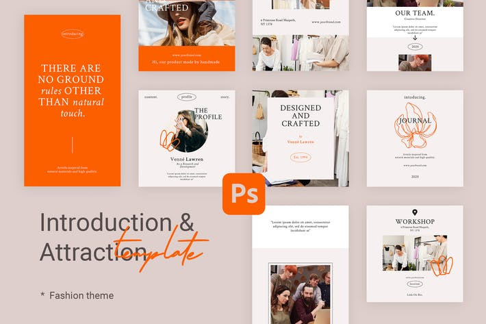 Thumbnail for Introduction - Instagram Templates for Fashion