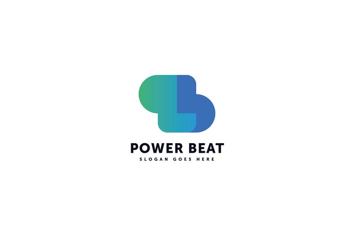 Thumbnail for Power Beat Logo P B Letter Template