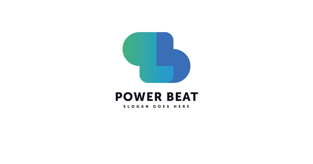 Power Beat Logo P B Letter Template by Pixasquare