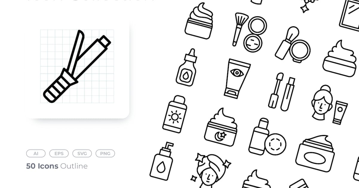 Download Cosmetic Outline Icon by GoodWare_Std