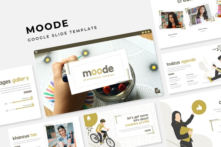 Thumbnail for Moode - Google Slide Template
