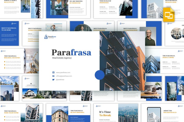 Thumbnail for Parafrasa - Real Estate Agency Google Slides