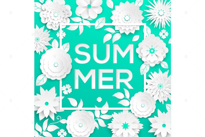 Cover Image For Summer - modern vector colorful illustration