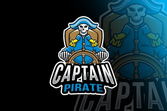 Thumbnail for Captain Pirate Esport Logo Template