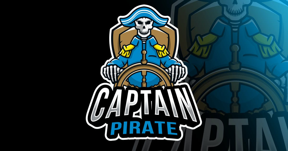 Download Captain Pirate Esport Logo Template by IanMikraz