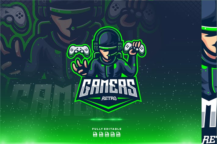 Thumbnail for Retro Gamers  Gaming Logo
