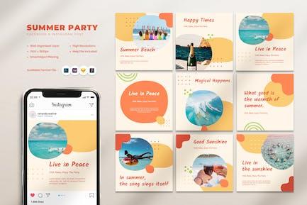 Summer Party Beach Club Instagram Post