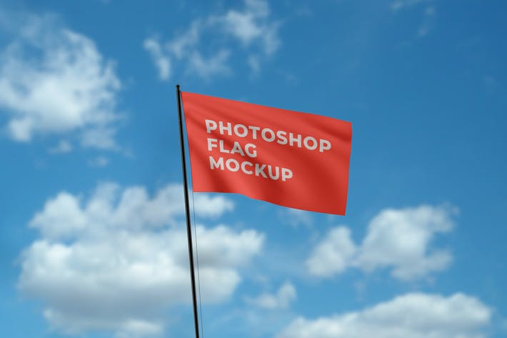 Thumbnail for Photorealistic Flag Mockup