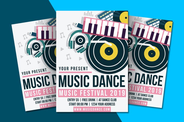 Thumbnail for Music Dance Flyer Template