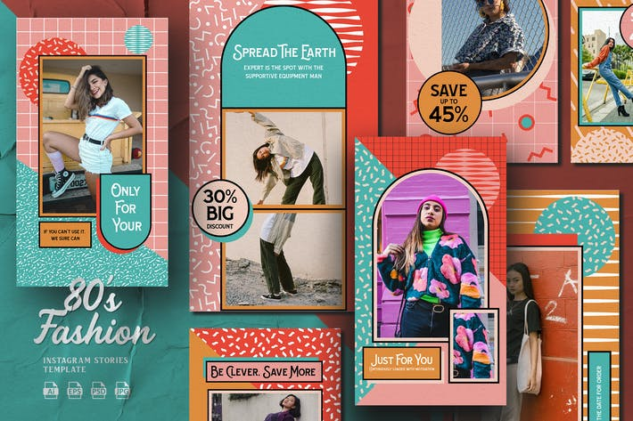 Thumbnail for 80s Theme - Fashion Instagram Stories