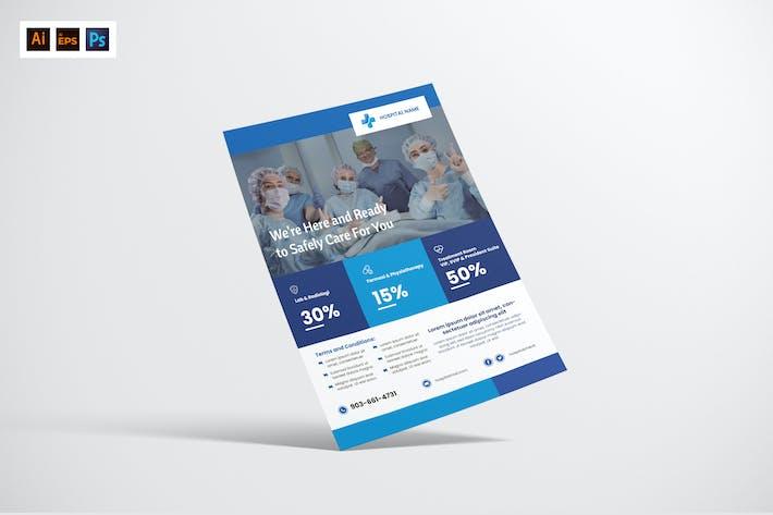 Thumbnail for Flyer Design für Krankenhaus/Ärztliche Betreuung