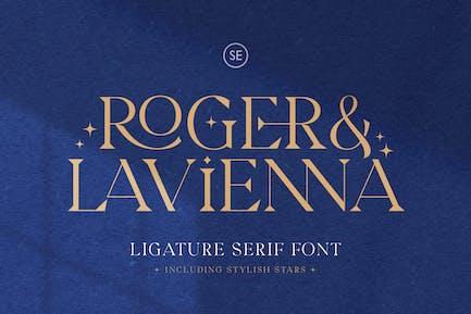 Roger & Lavienna - Ligature Serif