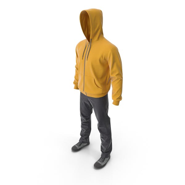 Men's Casual Clothes Yellow Hood
