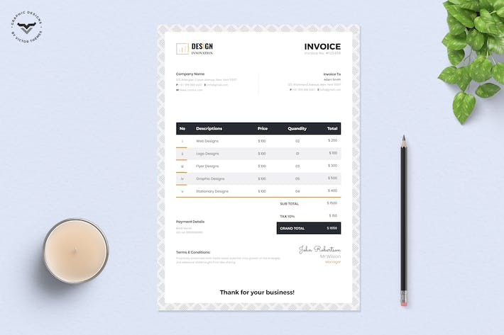 Cover Image For Invoice Template